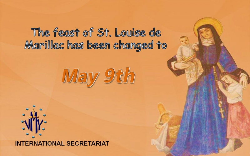 New date for the feast of St. Louise – May 9
